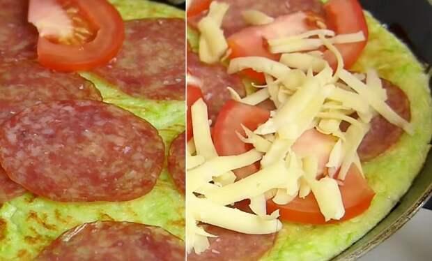 пицца из кабачков без теста