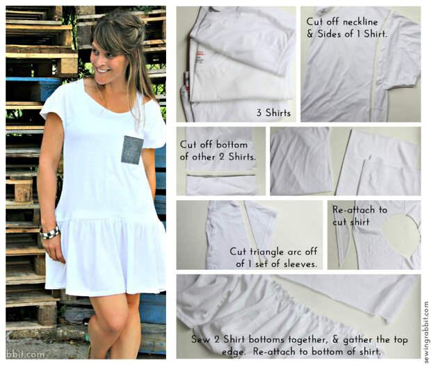 Смотрите не 1 - Десять Shirt Вызов Коллаж - 10 способов превратить белый чай - #sewing || www.sewingrabbit.com