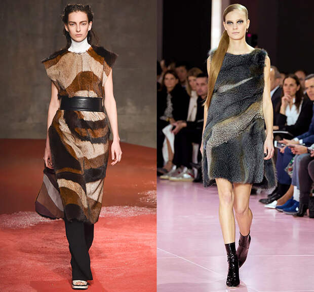 Справа — Marni, слева — Christian Dior