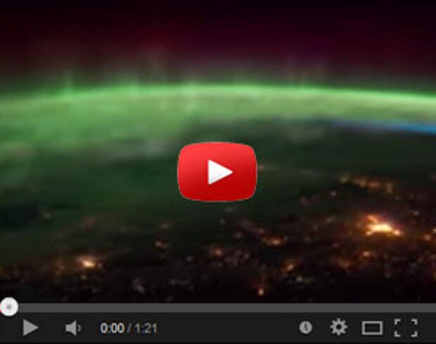 Совершенно чумовое видео из космоса с борта МКС