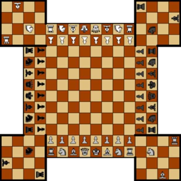 Четверные шахматы с крепостями
