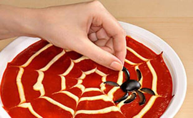 Рецепт, как приготовить пиццу на Хэллоуин