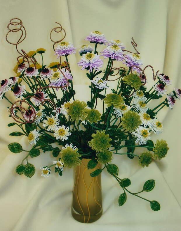 Цветы из бисера Коссовой Т.Е.
