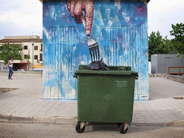 Сплетение вымысла и реальности в граффити художника Сандро Томаса