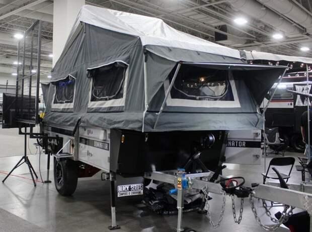 Dominator от Black Series – небольшой трейлер с выдвижными тентами авто, дома на колесах, кемпинг, отдых, прицепы, трейлер, трейлеры, фото