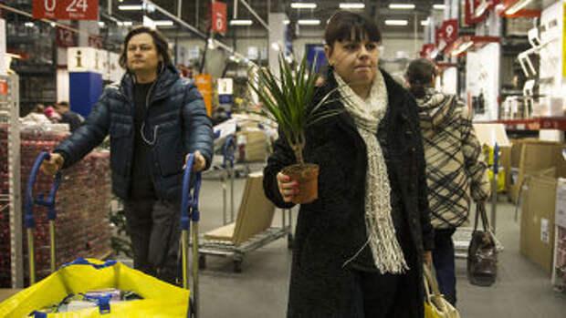 Москвичи в магазине IKEA