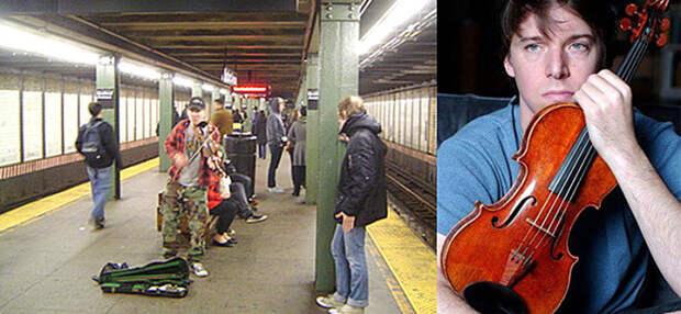 Всемирно известный музыкант сыграл в метро на скрипке Страдивари