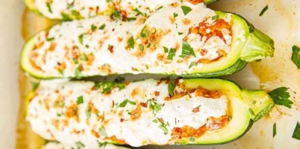 Рецепты кабачков в духовке: Лодочки из кабачков с фаршем и рикоттой