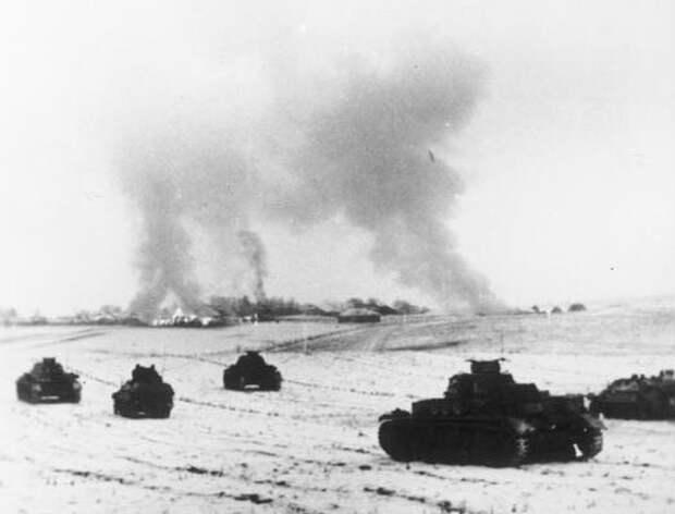 Ноябрь 1941 года. Немецкие танки под Москвой. / Bundesarchiv
