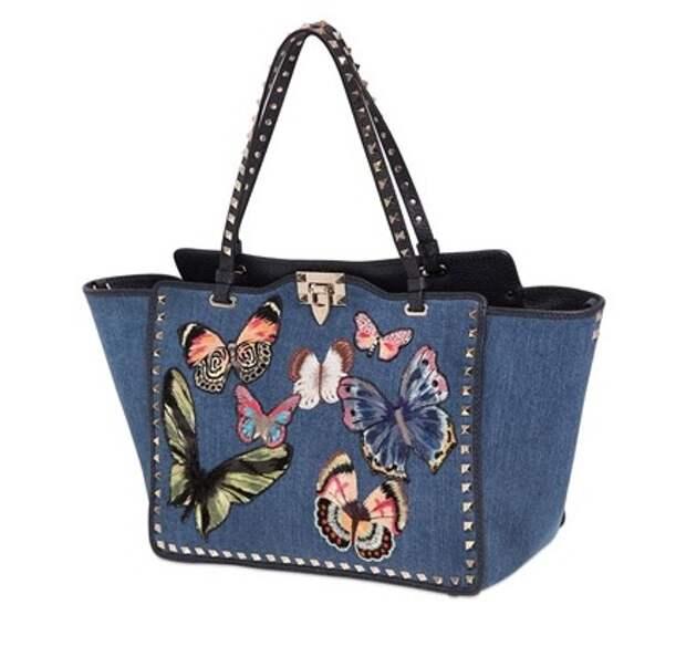 Джинсовые сумочки от известных брендов.