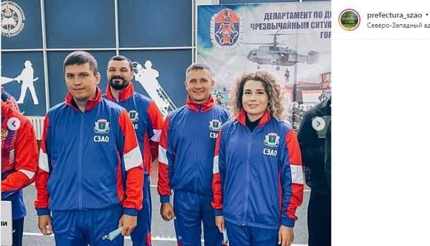 Диспетчер пожарной части из Строгина стала призёром Первенства Москвы по пожарно-прикладному спорту