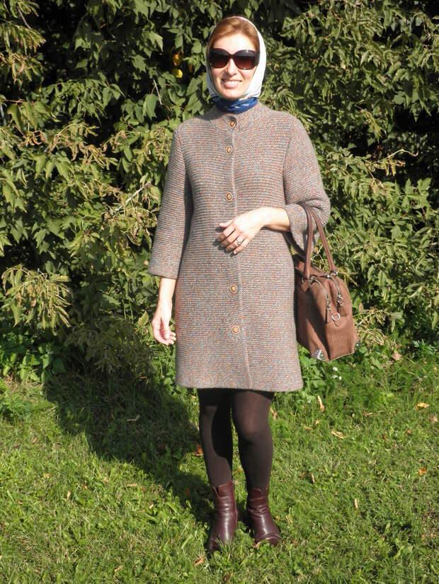 Вяжем эффектное летнее пальто