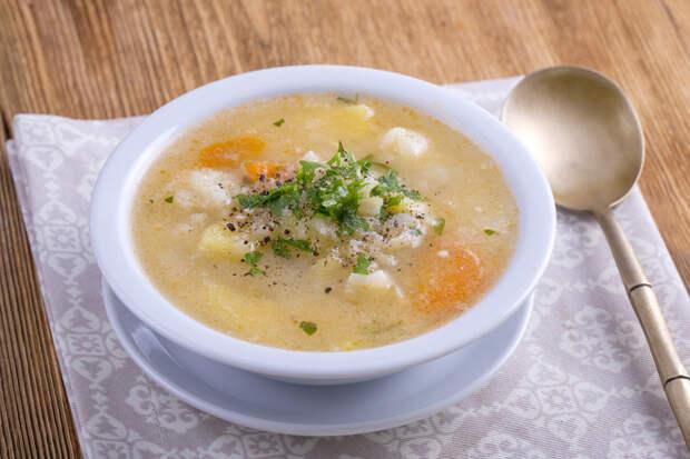 Сытный и диетический суп из цветной капусты с курицей – рецепт пошаговый, быстро и вкусно