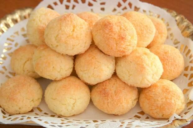 Самый простой рецепт кокосового печенья