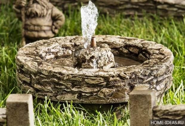 мини фонтан из камня