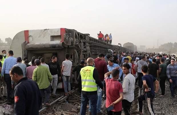 В Египте уточнили число погибших при сходе поезда с рельсов