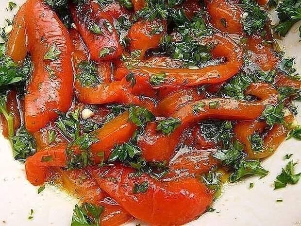 Перец болгарский с чесноком на зиму