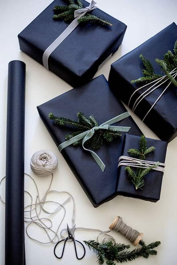 Суровая упаковка новогоднего подарка