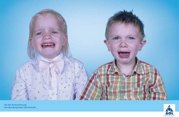 Реклама с образоами детей, созданная Ахимом Липпотом