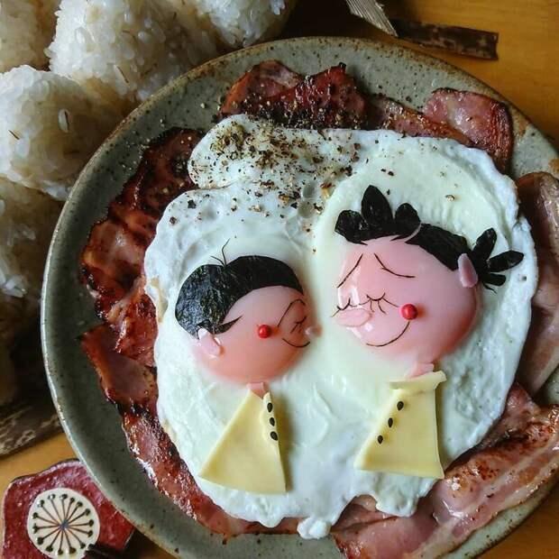 Аппетитные икрасивые блюда изяиц отмногодетной японской мамы