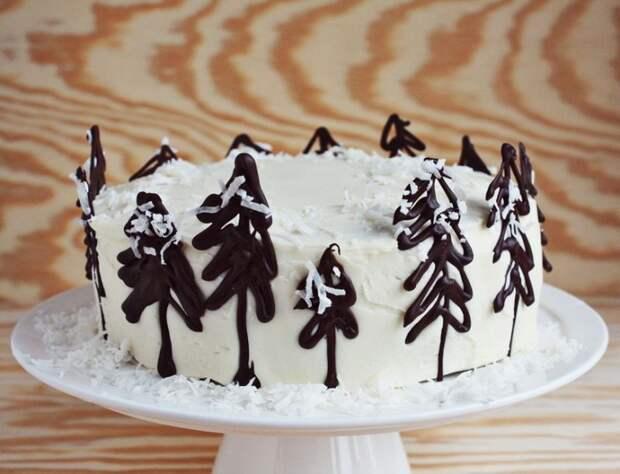 Зимний торт (Diy)