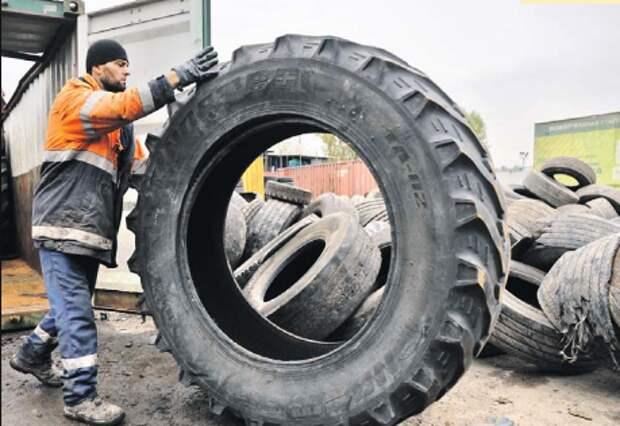 Как утилизируют старые автомобильные шины