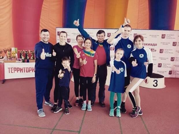 Семья из Бабушкинского в составе сборной округа завоевала «бронзу» на городских соревнованиях