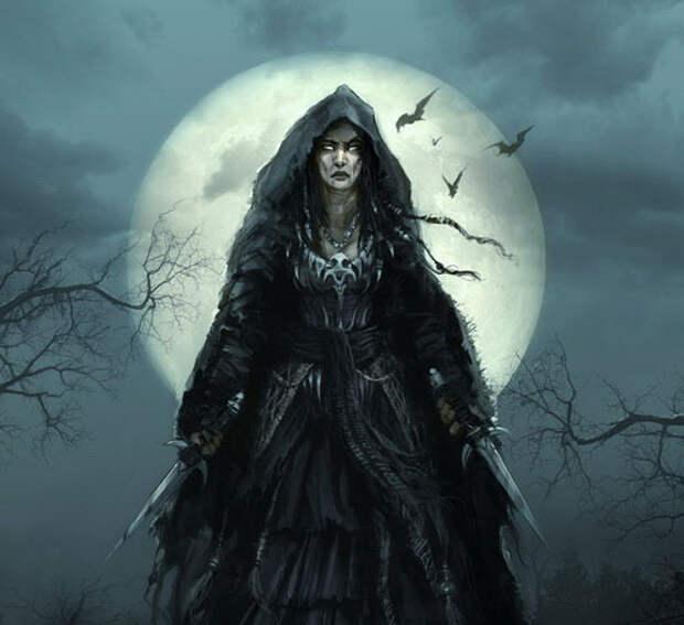 Ведьма в лунную ночь