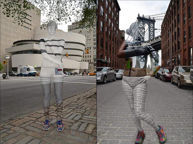 Художница спрятала обнаженных девушек на улицах Нью-Йорка