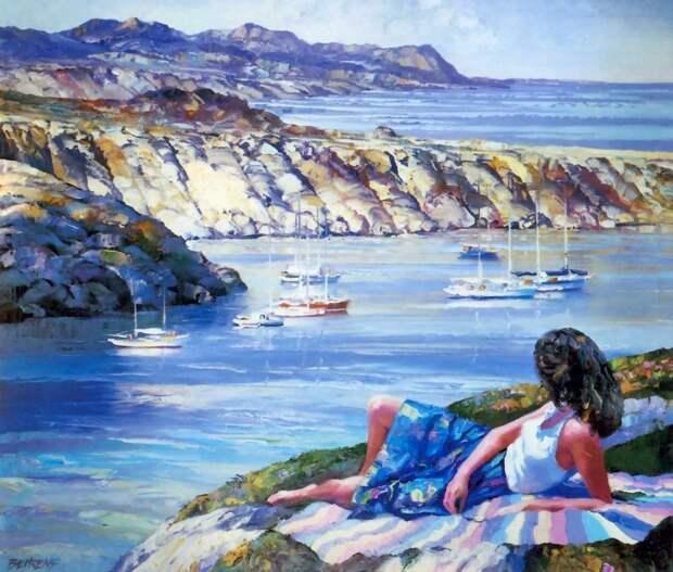 Когда будете скучать по лету, смотрите на картины этого художника. Его называют Моне XXI века
