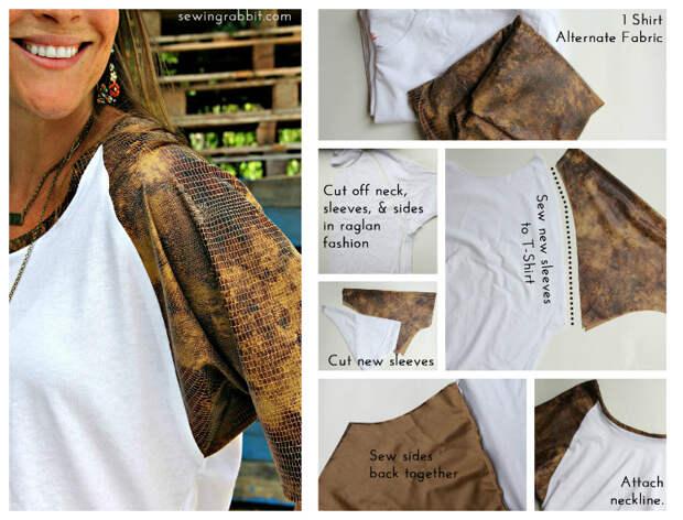Смотрите не 7 - Животное Ткань реглан - 10 способов превратить белый чай - #sewing || www.sewingrabbit.com