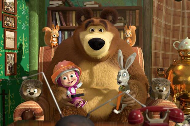 Мультсериал «Маша и Медведь» набрал более 100 млрд просмотров на YouTube