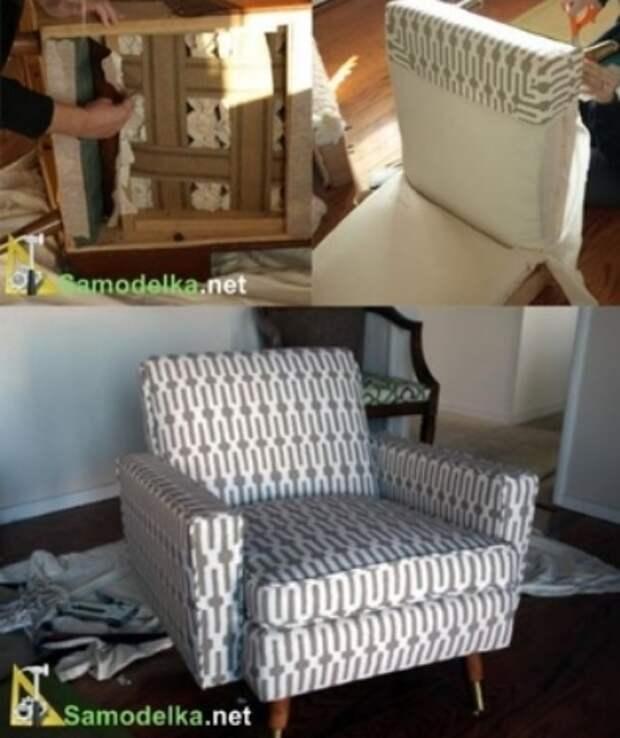 Как обновить старое кресло. Меняем обивку сами (2) (396x472, 104Kb)