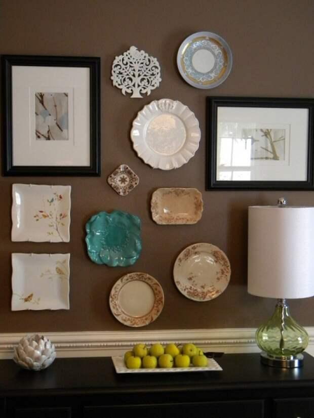 Преображение стен с помошью декоративных тарелок
