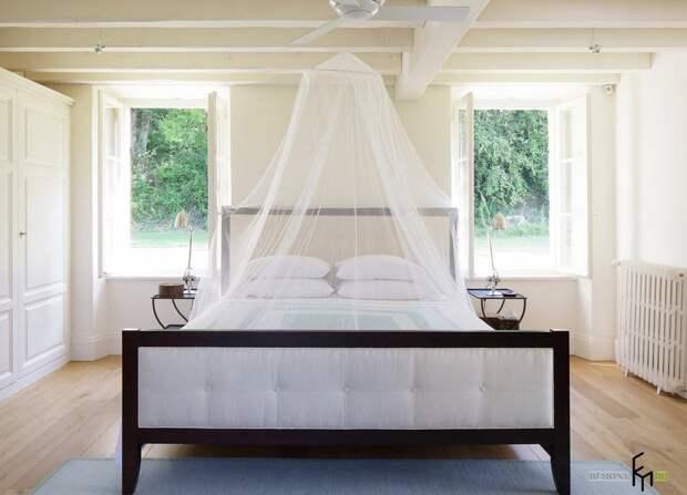 Вид спальни в южном стиле