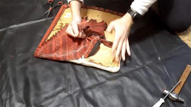 Девушка нашла на даче советский стул 1979 года выпуска и отлично его отреставрировала