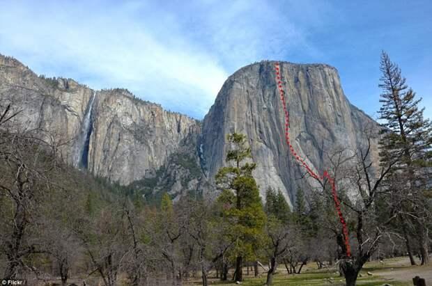910-метровый путь, который преодолел скалолаз за 4 часа Эль-Капитан, гора, скалолаз
