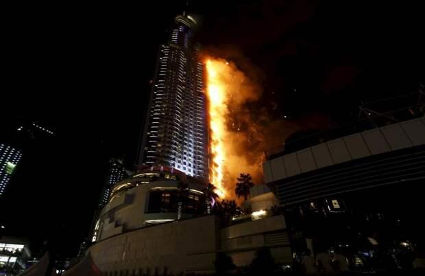 Новогодний пожар в Дубае: как горел роскошный отель-небоскреб