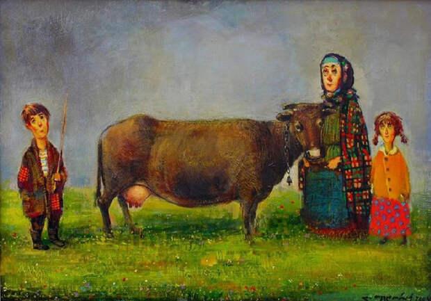 Корова. Автор: Ладо Тевдорадзе.