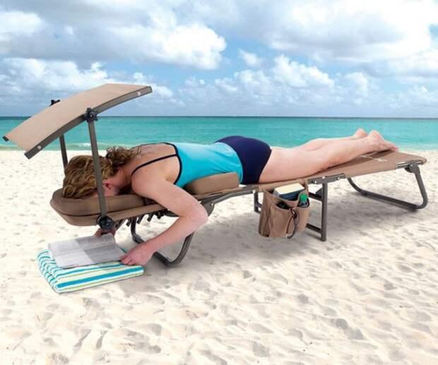 2. Лежак для пляжа, который решит все проблемы. вещи, лето