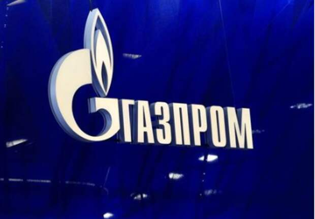 The logo of Gazprom company is seen at the St. Petersburg International Economic Forum (SPIEF) in Saint Petersburg, Russia, June 2, 2021. REUTERS/Evgenia Novozhenina