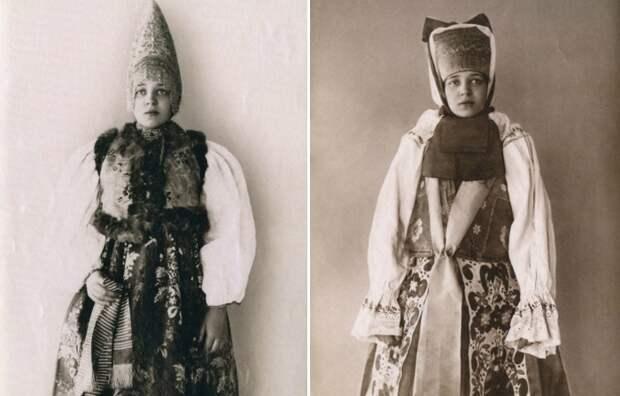 Русские красавицы в национальных костюмах.