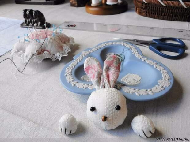 Лоскутное шитье. Кошелек с кроликом (42) (700x524, 276Kb)