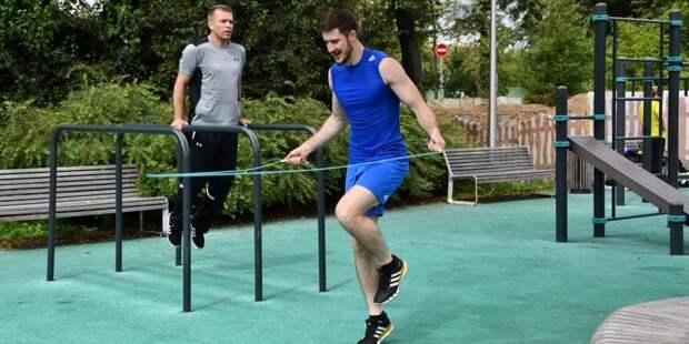В Лианозовском парке возобновили спортивные тренировки
