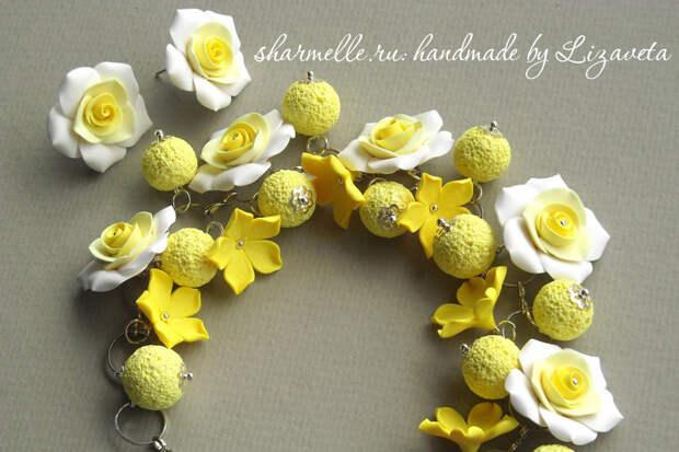 Желтые розы своими руками