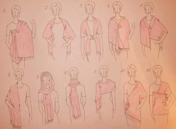 Как носить палантины