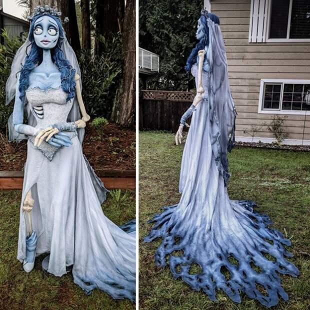 15 примеров того, как люди на Хэллоуин превратили дома в декорации для фильма ужасов