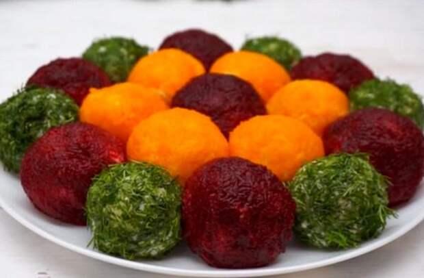 Новогодний салат-закуска «Шарики»