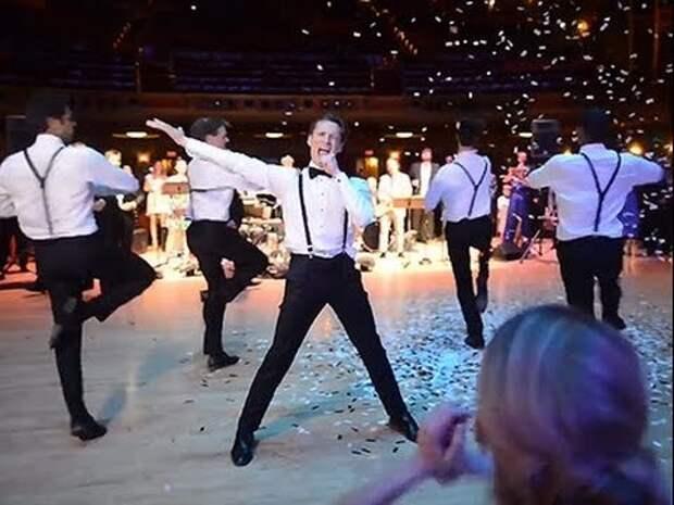 Жених поразил невесту своим превосходным танцем