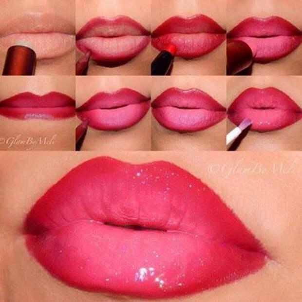Пухлые губы без инъекций. 8 техник макияжа, которые по силам повторить каждой женщине